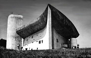 ロンシャンの教会 建築家 ル・コルビュジエ
