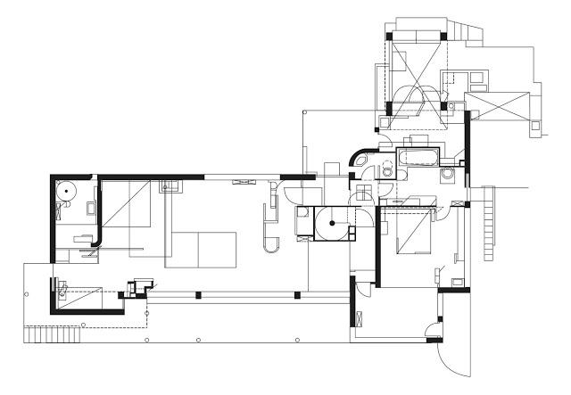 別荘E1027 平面図 建築家・プロダクトデザイナー アイリーン・グレイ