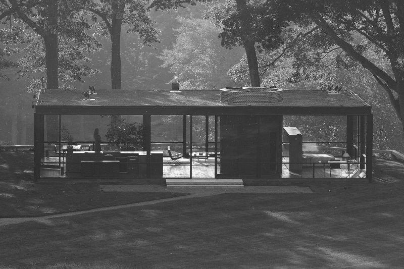 自邸・ガラスの家 建築家フィリップ・ジョンソン