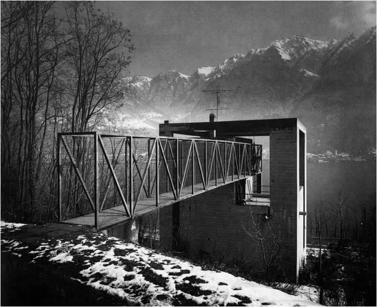 1973 リヴァ・サンヴィターレの住宅 建築家 マリオ・ボッタ