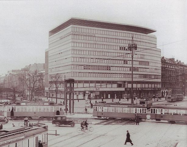 1930 コルンブスハウス 建築家 エーリヒ・メンデルゾーン