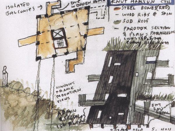 2009 クヌート・ハムスン・センター 建築家 スティーブン・ホール