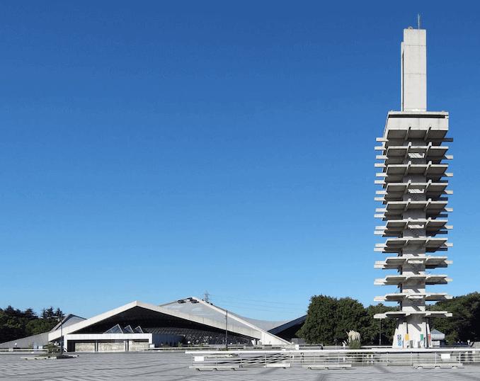 1964 駒沢オリンピック公園総合運動場体育館・管制塔 建築家 芦原義信