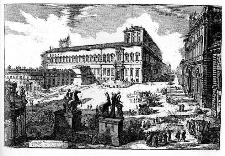 1748-1774 ローマの景観:Quirinal 建築家 ジョヴァンニ・バッティスタ・ピラネージ