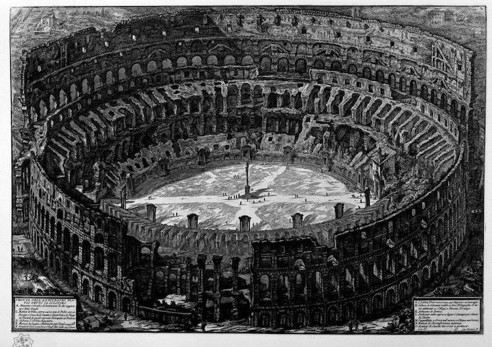 1748-1774 ローマの古代遺跡:Coliseo 建築家 ジョヴァンニ・バッティスタ・ピラネージ