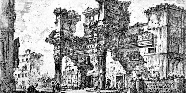 1748-1774 ローマの古代遺跡:Foro de Nerva 建築家 ジョヴァンニ・バッティスタ・ピラネージ