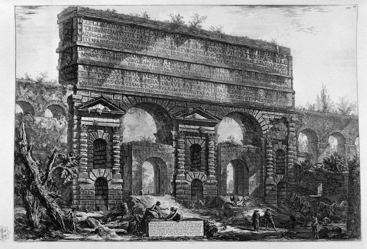 1748-1774 ローマの古代遺跡:Porta Maggiore 建築家 ジョヴァンニ・バッティスタ・ピラネージ