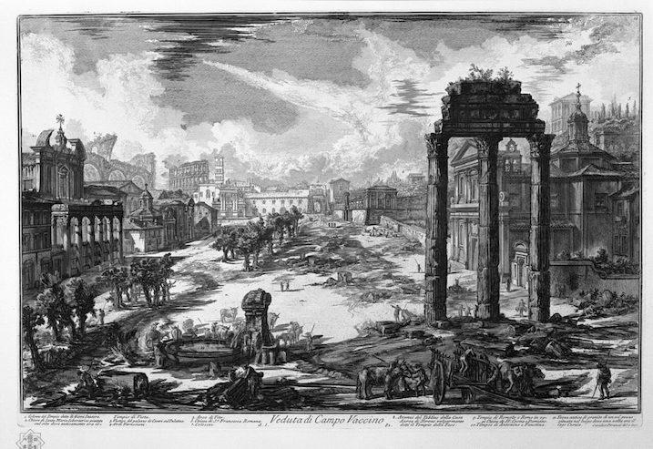 1748-1774 ローマの古代遺跡:Templo de Cástor y Pólux 建築家 ジョヴァンニ・バッティスタ・ピラネージ
