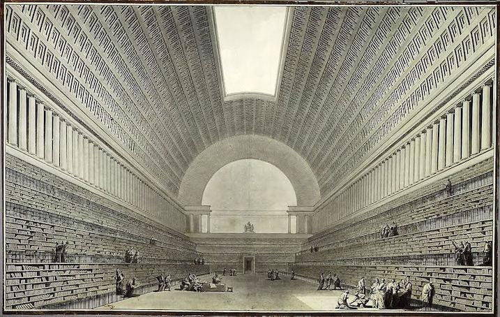 1785 王立図書館再建案 建築家 エティエンヌ・ルイ・ブーレー