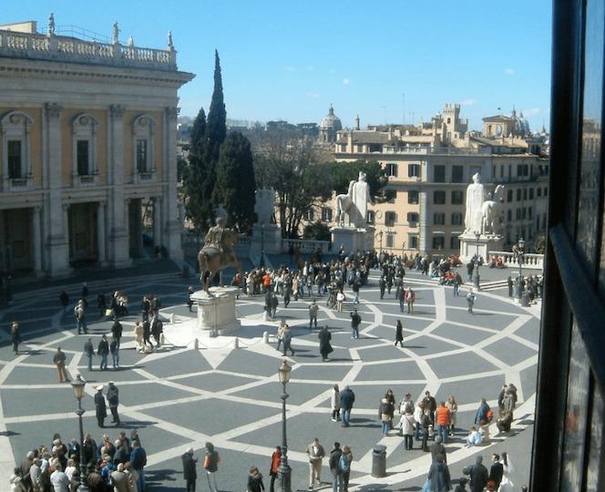 1536-1546 カンピドリオ広場 建築家 ミケランジェロ・ブオナローティ