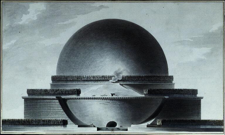 1784 ニュートン記念堂 建築家 エティエンヌ・ルイ・ブーレー