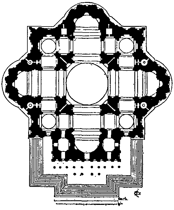 1546- サン・ピエトロ大聖堂 建築家 ミケランジェロ・ブオナローティ