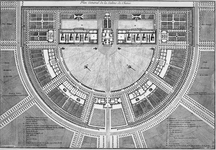 1778 アル=ケ=スナンの王立製塩所 建築家 クロード・ニコラ・ルドゥー