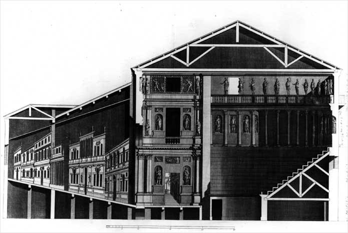 1580起工 テアトロ・オリンピコ 建築家 アンドレア・パラディオ