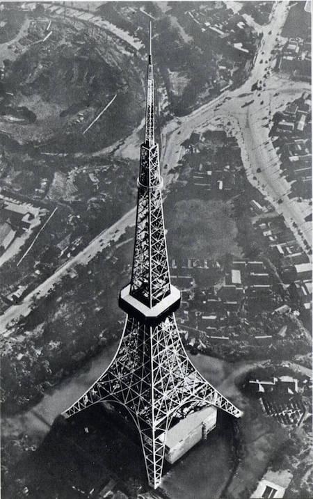 1958 東京タワー 建築家 内藤多仲